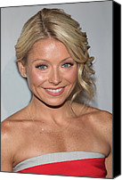 Kelly Canvas Prints - Kelly Ripa At Arrivals For The Point Canvas Print by Everett