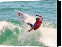Kelly Slater Canvas Prints - Kelly Slater US Open of Surfing 2012     3 Canvas Print by Jason Waugh