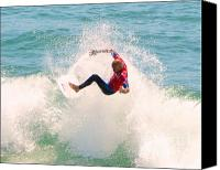Kelly Slater Canvas Prints - Kelly Slater US Open of Surfing 2012     6 Canvas Print by Jason Waugh