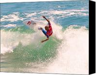 Kelly Slater Canvas Prints - Kelly Slater  US Open of Surfing 2012     7 Canvas Print by Jason Waugh