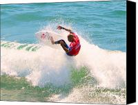 Kelly Slater Canvas Prints - Kelly Slater US Open of Surfing 2012     8 Canvas Print by Jason Waugh