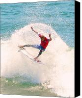 Kelly Slater Canvas Prints - Kelly Slater US Open of Surfing 2012   2 Canvas Print by Jason Waugh