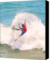 Kelly Slater Canvas Prints - Kelly Slater US Open of Surfing 2012    5 Canvas Print by Jason Waugh