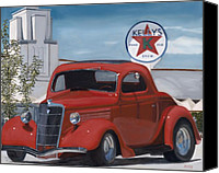 Custom Ford Painting Canvas Prints - Kellys Canvas Print by Jack Atkins