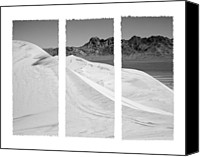 Kelso Canvas Prints - Kelso Dunes Triptych Canvas Print by Kelley King