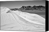 Kelso Canvas Prints - Kelso Sand Dunes BW Canvas Print by Kelley King
