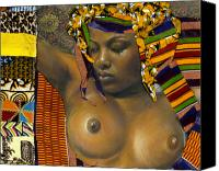 African American Female Canvas Prints - Kenji Canvas Print by Gary Williams