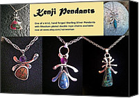 Sterling Silver Jewelry Canvas Prints - Kenji Pendants Canvas Print by Vanessa Williams