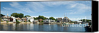 Fun Houses Canvas Prints - Kennebunkport Maine Canvas Print by Jim Chamberlain