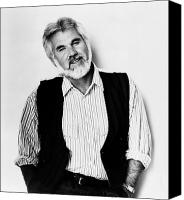 Kenny Canvas Prints - Kenny Rogers (1938-) Canvas Print by Granger