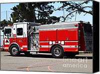 Fire Fighter Canvas Prints - Kensington Fire District Fire Engine . 7D15854 Canvas Print by Wingsdomain Art and Photography