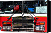 Fire Fighter Canvas Prints - Kensington Fire District Fire Engine . 7D15861 Canvas Print by Wingsdomain Art and Photography