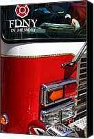 Fire Fighter Canvas Prints - Kensington Fire District Fire Engine . 7D15881 Canvas Print by Wingsdomain Art and Photography