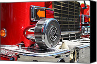 Fire Engine Canvas Prints - Kensington Fire District Fire Engine Siren . 7D15879 Canvas Print by Wingsdomain Art and Photography