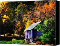New England Canvas Prints - Kent Hollow II - New England rustic barn Canvas Print by Thomas Schoeller