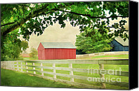 Old Country Roads Canvas Prints - Kentucky Country Side Canvas Print by Darren Fisher