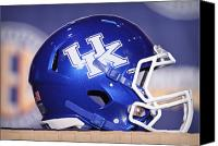 Team Canvas Prints - Kentucky Wildcats Football Helmet Canvas Print by Icon Sports Media