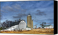 Brother Canvas Prints - Kenyon Brothers Dairy Canvas Print by David Bearden