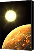 Planetary Canvas Prints - Kepler-10b Exoplanet, Artwork Canvas Print by Richard Bizley