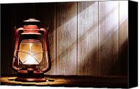 Oil Lamp Canvas Prints - Kerosene Lantern Canvas Print by Olivier Le Queinec