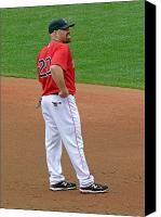 Homerun Canvas Prints - Kevin Youkilis Canvas Print by Juergen Roth