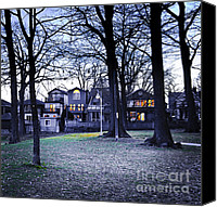 Lamppost Canvas Prints - Kew Park at dusk Canvas Print by Elena Elisseeva