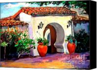 Clemente Painting Canvas Prints - Key Hole Archway 415 Canvas Print by Renuka Pillai