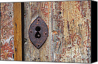 Rusty Door Canvas Prints - Key hole Canvas Print by Carlos Caetano