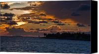 Tropical Sunset Canvas Prints - Key West Sunset Canvas Print by Patrick  Flynn