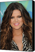 Wavy Hair Canvas Prints - Khloe Kardashian At Arrivals For 2011 Canvas Print by Everett