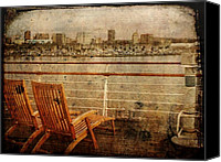 Cruise Ships Canvas Prints - Kick Back Canvas Print by Leah Moore