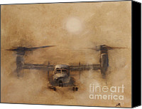 Iraq Canvas Prints - Kicking Sand Canvas Print by Stephen Roberson