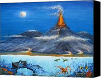 Nature Tapestries Textiles Special Promotions - Kilauea Volcano Hawaii Canvas Print by Jerome Stumphauzer