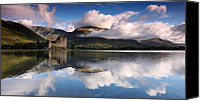 Featured Canvas Prints - Kilchurn Castle Canvas Print by Guido Tramontano Guerritore
