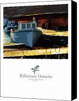 Ontario Mixed Media Canvas Prints - Killarney Ontario Poster Series Canvas Print by Bob Salo