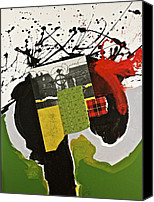 Drips Mixed Media Canvas Prints - Kilter Canvas Print by Cliff Spohn