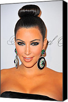 Cipriani Restaurant Wall Street Canvas Prints - Kim Kardashian At Arrivals For The Canvas Print by Everett