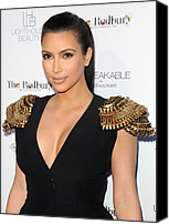 Half-length Canvas Prints - Kim Kardashian Wearing An Alexander Canvas Print by Everett