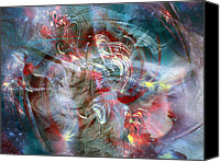 Kinetic Canvas Prints - Kinetic Energy Canvas Print by Linda Sannuti