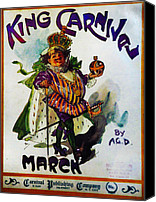 March Canvas Prints - King Carnaval March - Mardi Gras Canvas Print by Bill Cannon