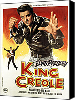 Postv Photo Canvas Prints - King Creole, Elvis Presley, 1958 Canvas Print by Everett