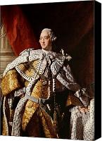 3rd Canvas Prints - King George III Canvas Print by Allan Ramsay