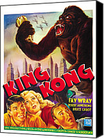 Horror Fantasy Movies Photo Canvas Prints - King Kong, Bottom Left, From Left Bruce Canvas Print by Everett