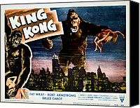 1930s Movies Canvas Prints - King Kong, Fay Wray, 1933 Canvas Print by Everett