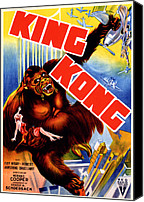 Horror Fantasy Movies Canvas Prints - King Kong, King Kong Holding Fay Wray Canvas Print by Everett