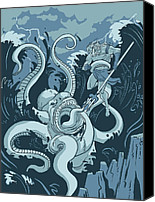 Neptune Canvas Prints - King Neptune Canvas Print by Michael Myers