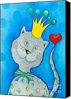 Tom Boy Canvas Prints - King of Cats Canvas Print by Sonja Mengkowski