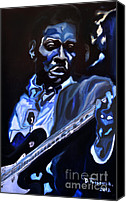 Epiphone Canvas Prints - King of Swing-Buddy Guy Canvas Print by David Fossaceca