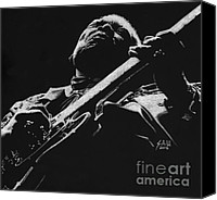 Celebrities Drawings Canvas Prints - King of the Blues Canvas Print by Sheryl Unwin