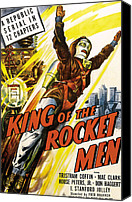 1949 Movies Canvas Prints - King Of The Rocket Men, 1949 Canvas Print by Everett